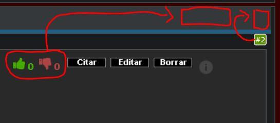 Cambiar de posición el numero de post y el sistema de likes a donde indica la imagen HHHH