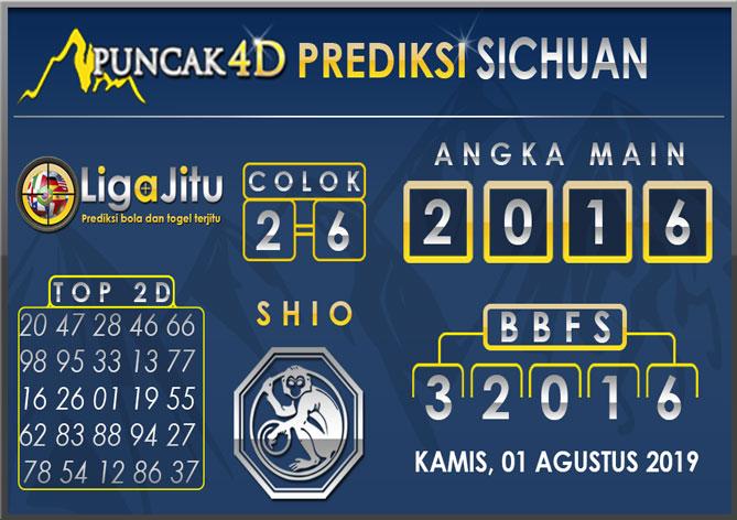PREDIKSI TOGEL SICHUAN PUNCAK4D 01 AGUSTUS 2019