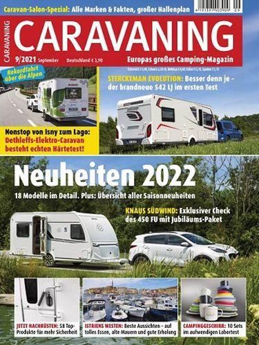 Cover: Caravaning Europas großes Campingmagazin No 09 September 2021