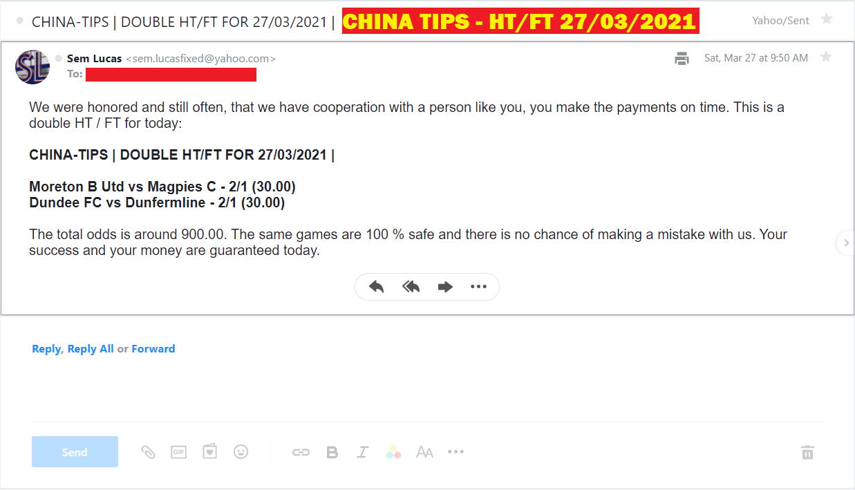 CHINA DOUBLE HT/FT FIXED MATCHES FOR 27/03/2021 | CHINA DOUBLE FIXED MATCHES
