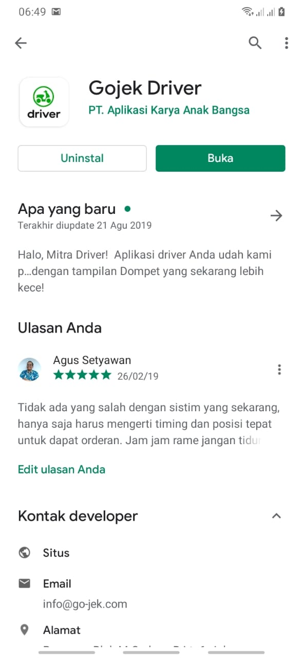 cara menggunakan aplikasi gojek driver