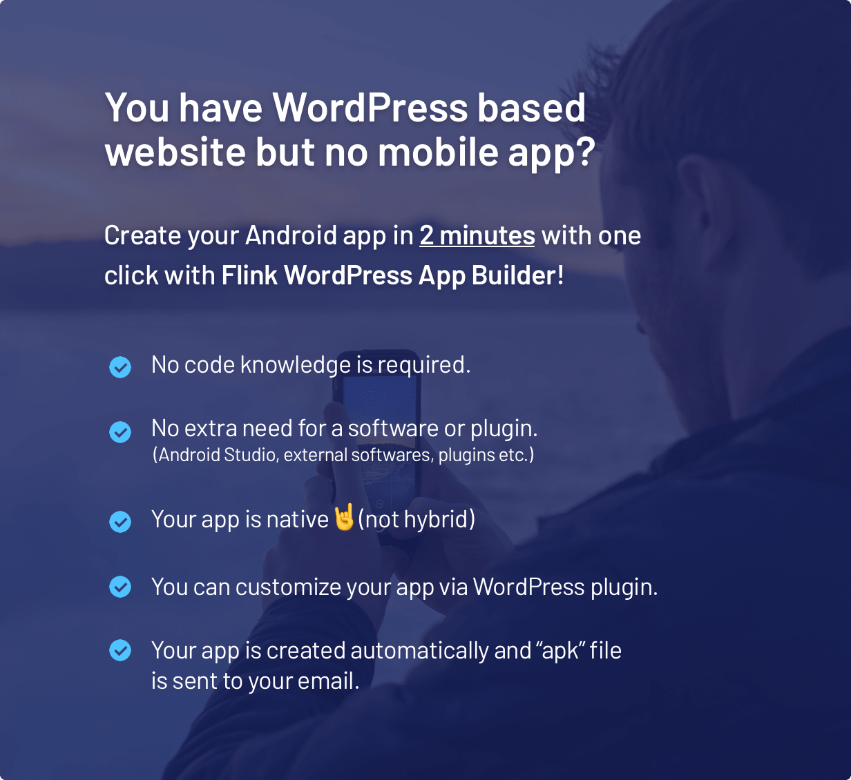 Flink - WordPress App Builder (Auto WordPress to Native Android App) + Ultimate Admin Panel - 1