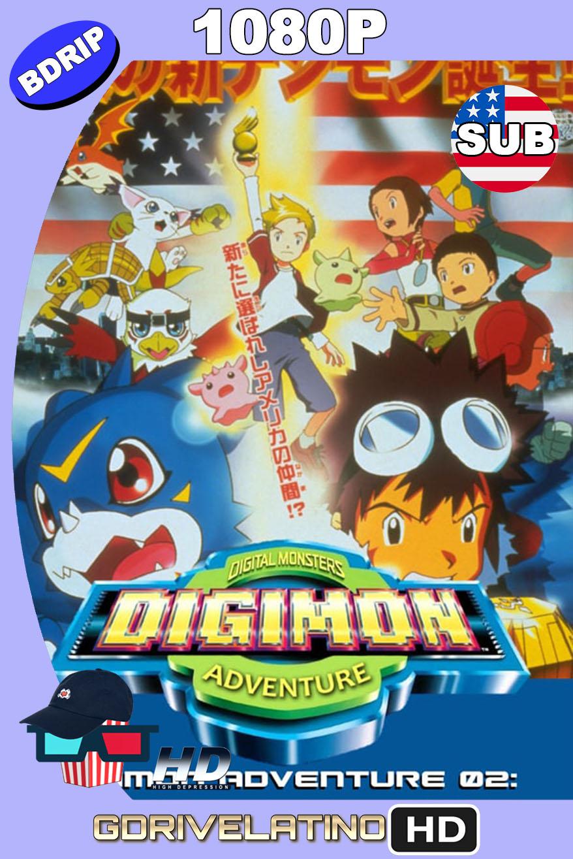 Digimon Adventure 02: ¡¡Aterrizaje del Huracán Digimon!! & ¡¡Evolución Suprema!! Los Digimentals de Oro (2000) BDRip 1080p Japonés SUBTITULADO MKV