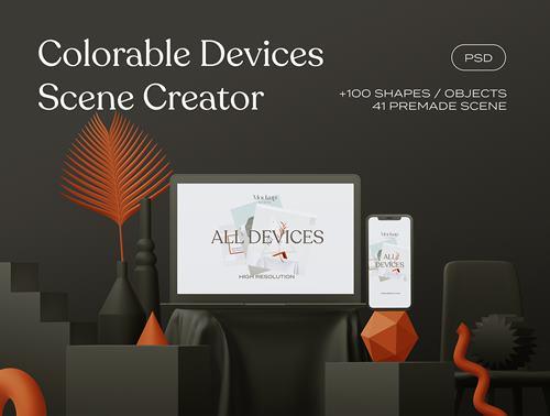 Colorable Devices Scene Creator