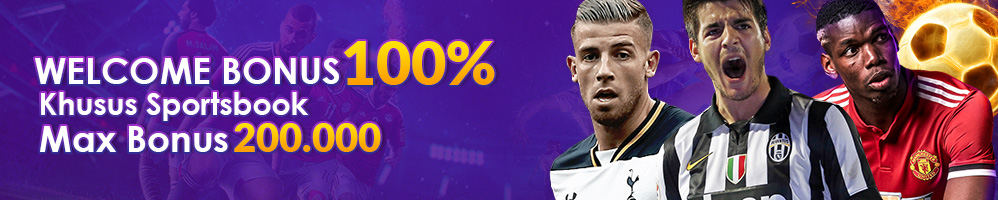 WELCOME BONUS SPORTSBOOK 100%