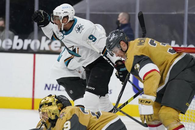 Mar-17-2021-Las-Vegas-Nevada-USA-San-Jose-Sharks-left-wing-Evander-Kane-9-celebrates-after-scoring-a