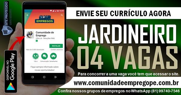 JARDINEIRO, 04 VAGAS PARA EMPRESA NO SEGMENTO DE PAISAGISMO