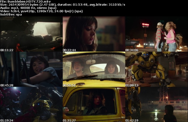 Bumblebee (2018)[HDTV-Screener 720p][Castellano MiC][Acción][VS]
