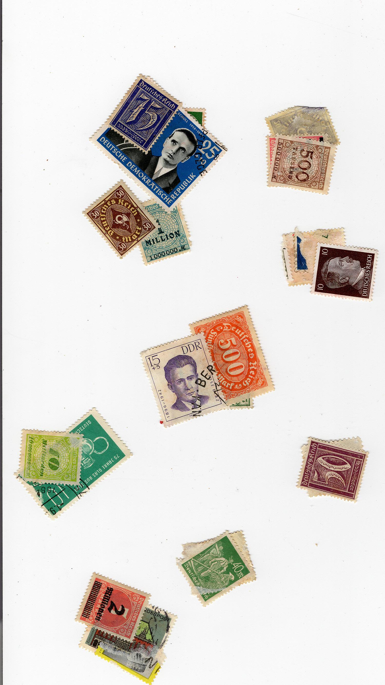 """""""Deutsches Reich"""" Diverse Briefmarken gefunden Marken-03"""