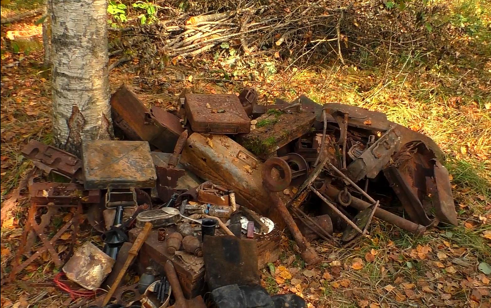 world war relics from dugout