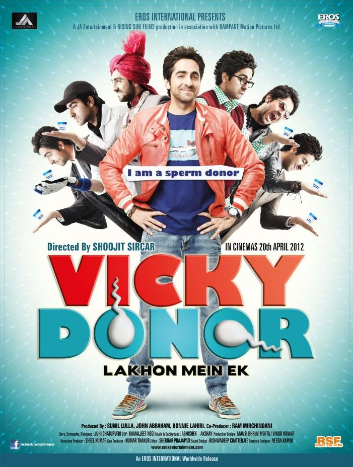 Vicky Donor 2012 Hindi 720p HDRip 850MB | 400MB ESubs DL