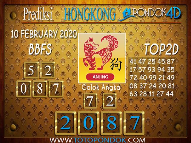 Prediksi Togel HONGKONG PONDOK4D 10 FEBRUARY 2020