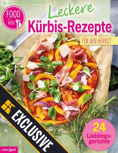 Cover: Foodkiss Magazin Leckere Kürbis Rezepte No 16 2021