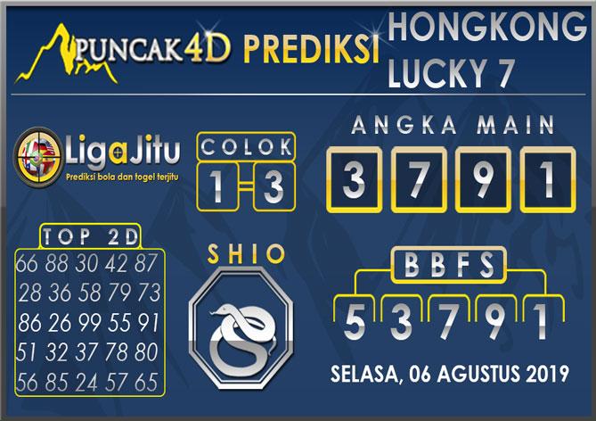 PREDIKSI TOGEL HONGKONG LUCKY7 PUNCAK4D 06 AGUSTUS 2019