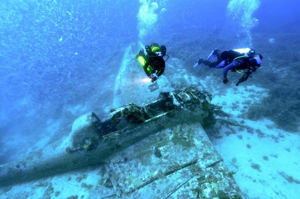 Junkers Ju-87 found at the bottom of the Adriatic Sea