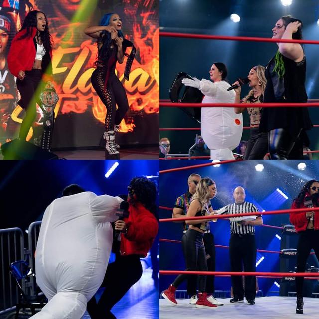 Havok y Nevaeh atacan a Tag Team knockouts Fire'n'Flava Impact 26 enero
