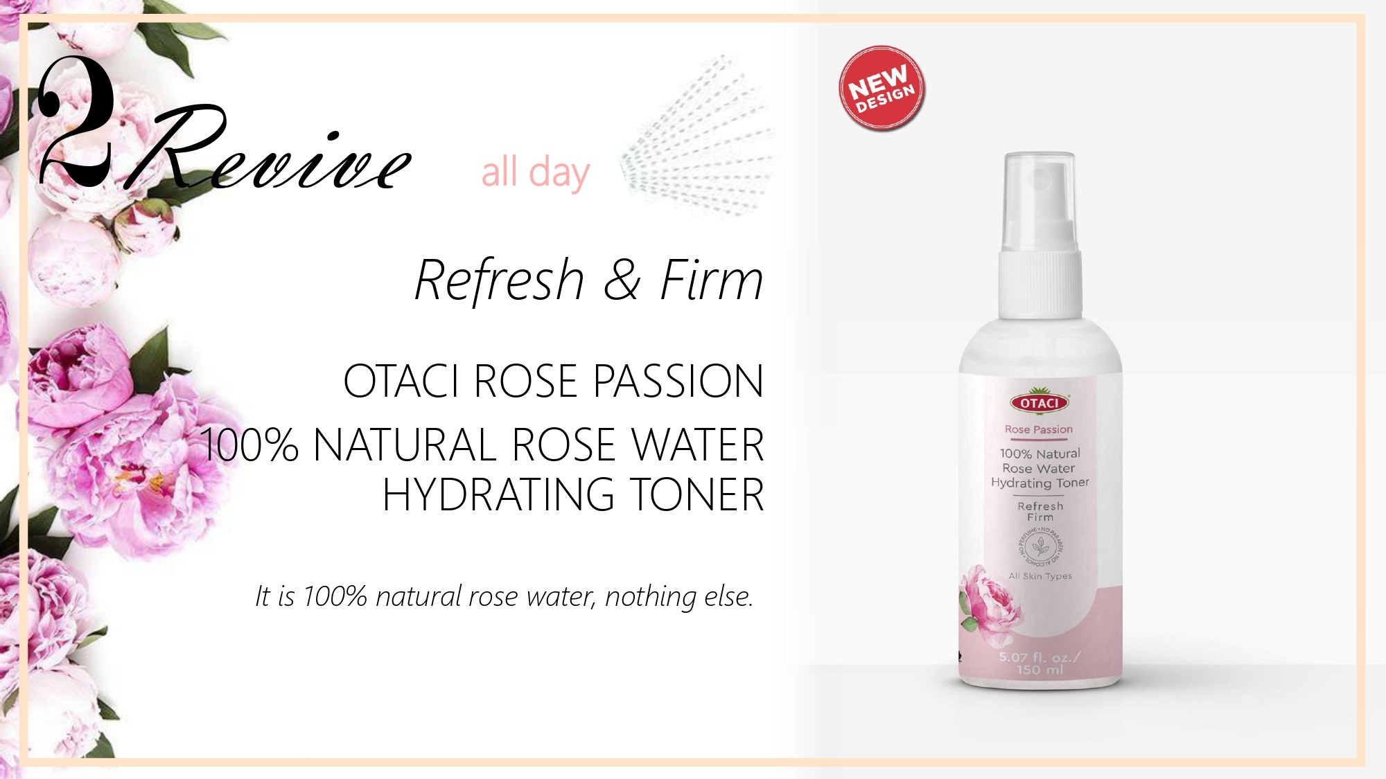 Otaci Rose Water Facial Toner for face