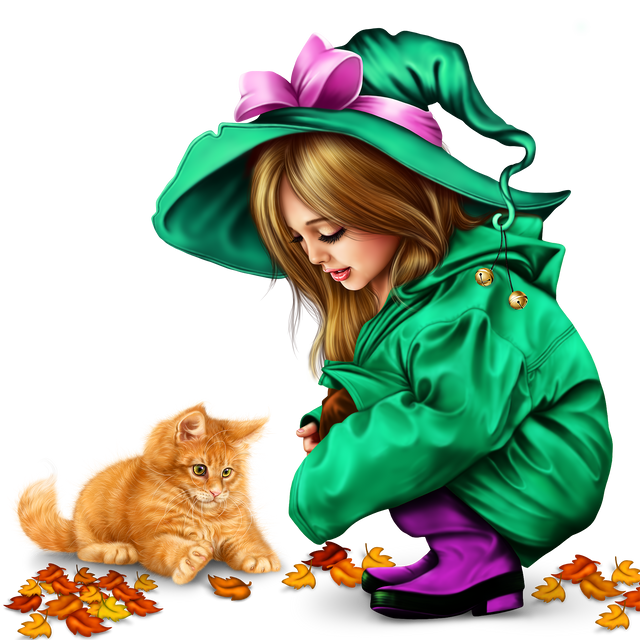 little girl in raincoat with a kitty png 156442fa82a1a3f05f.png
