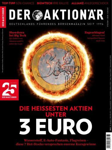 Cover: Der Aktionär Börsenmagazin No 32 vom 06  August 2021