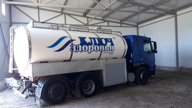 Оклейка рабочих машин (водовозы и лада ларгус) для компании Ключ здоровья