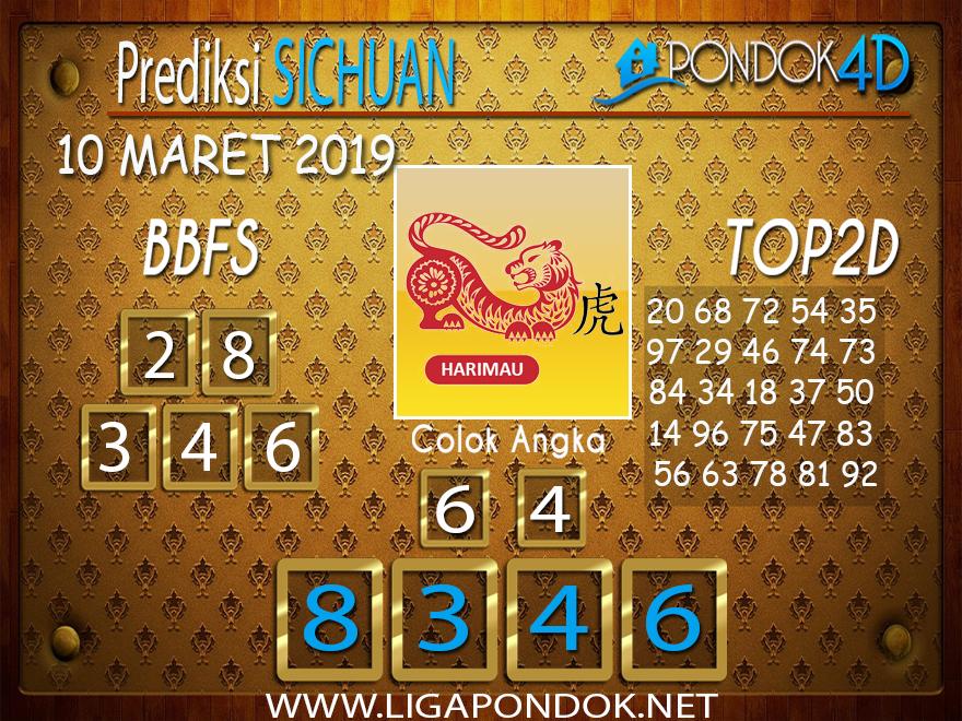 Prediksi Togel SICHUAN  PONDOK4D 10 MARET 2019