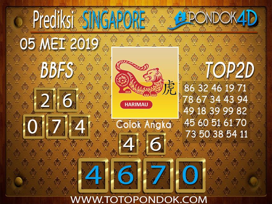 Prediksi Togel SINGAPORE PONDOK4D 05 MEI 2019