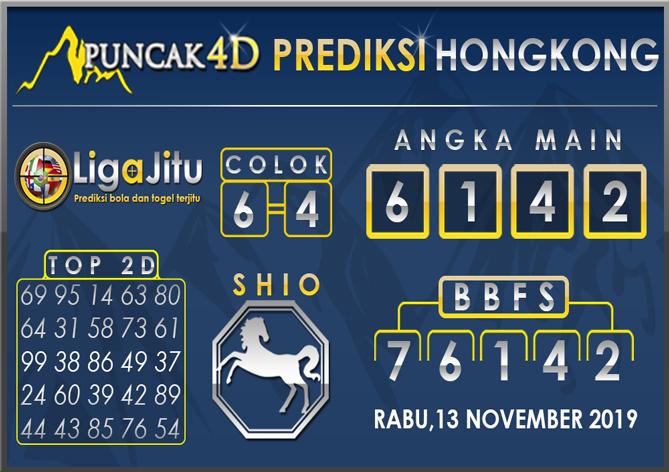 PREDIKSI TOGEL HONGKONG PUNCAK4D 13 NOVEMBER 2019