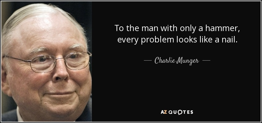 Charlie Munger, hammer, nail, learning styles, CIMA