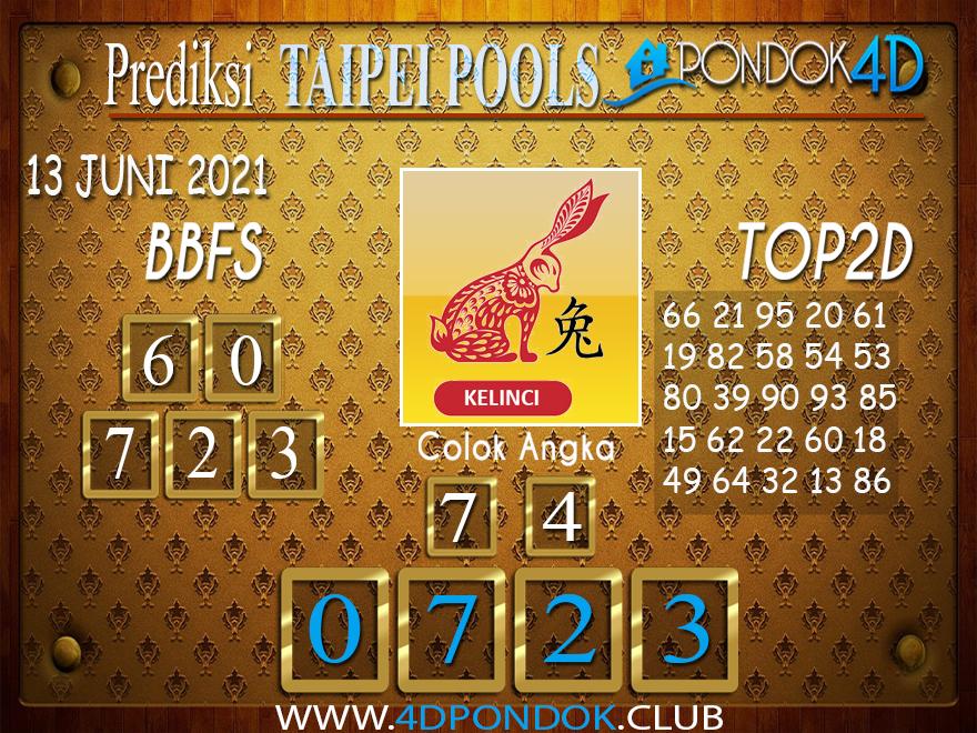Prediksi Togel TAIPEI PONDOK4D 13 JUNI 2021