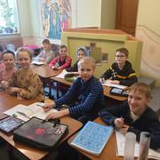 В духовном центре Донского храма 7 марта, был проведён урок-викторина, приуроченный ко дню православной книги. Учащиеся узнали о происхождении книг на Руси