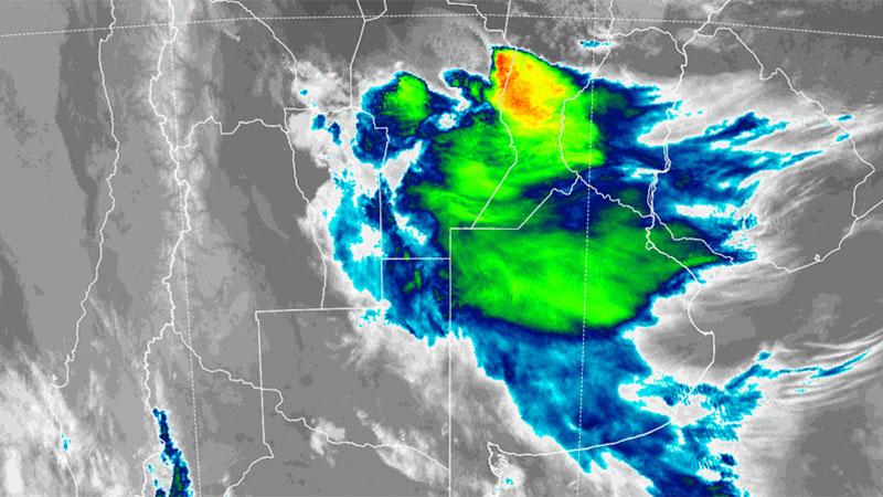 S.M.N: Alerta por tormentas fuertes y ràfagas, en algunos departamentos cayo granizo