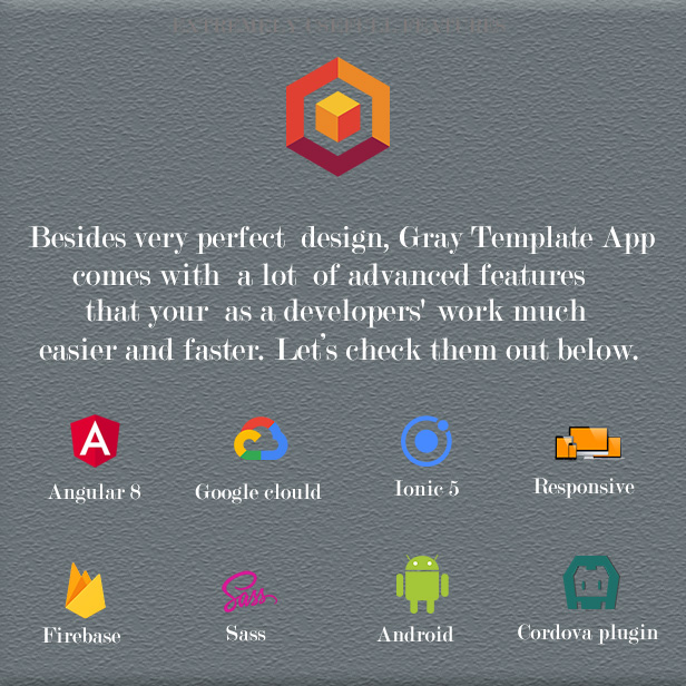 Ionic 5 Gray UI Theme / Template App
