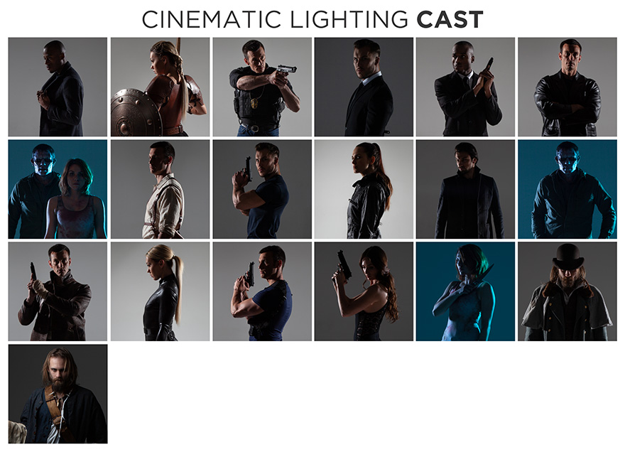 cinematic lighting stock photo bundle cast members