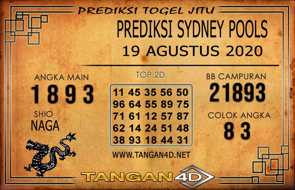 PREDIKSI TOGEL SYDNEY TANGAN4D 19 AGUSTUS 2020