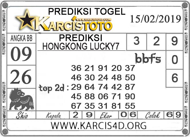 Prediksi Togel HONGKONG LUCKY 7 KARCISTOTO 15 FEBRUARI 2019
