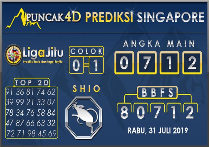 PREDIKSI TOGEL SINGAPORE PUNCAK4D 31 JULI 2019