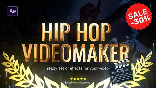 Hip Hop Music Video Editor 2.0 23834304 - Project for After Effects (Videohive)