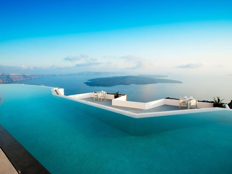 grace santorini world best pools in hotels