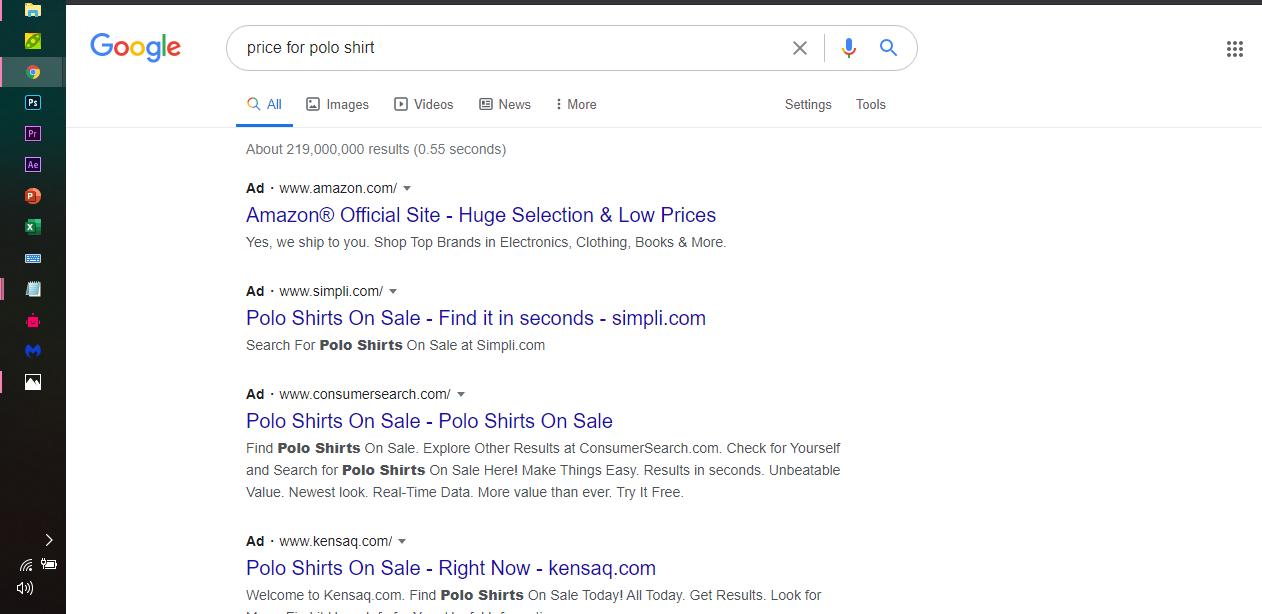 Google SEM ads