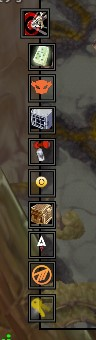 BtWLoadouts icon (the top one) is jutted out to the left and doesn't fade like the others.
