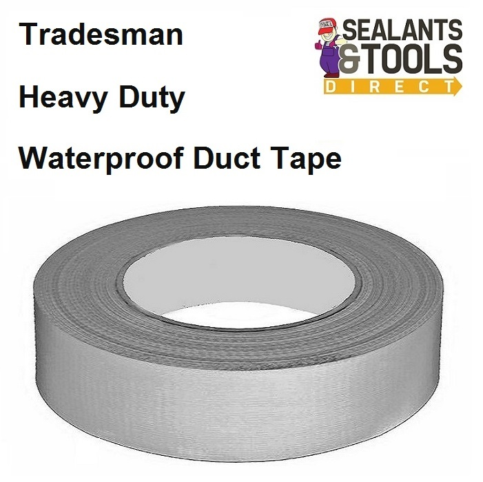 Tradesmans Waterproof Duct Gaffa Tape 48mm 50m Grey