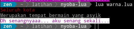 Kode Lua dengan warna