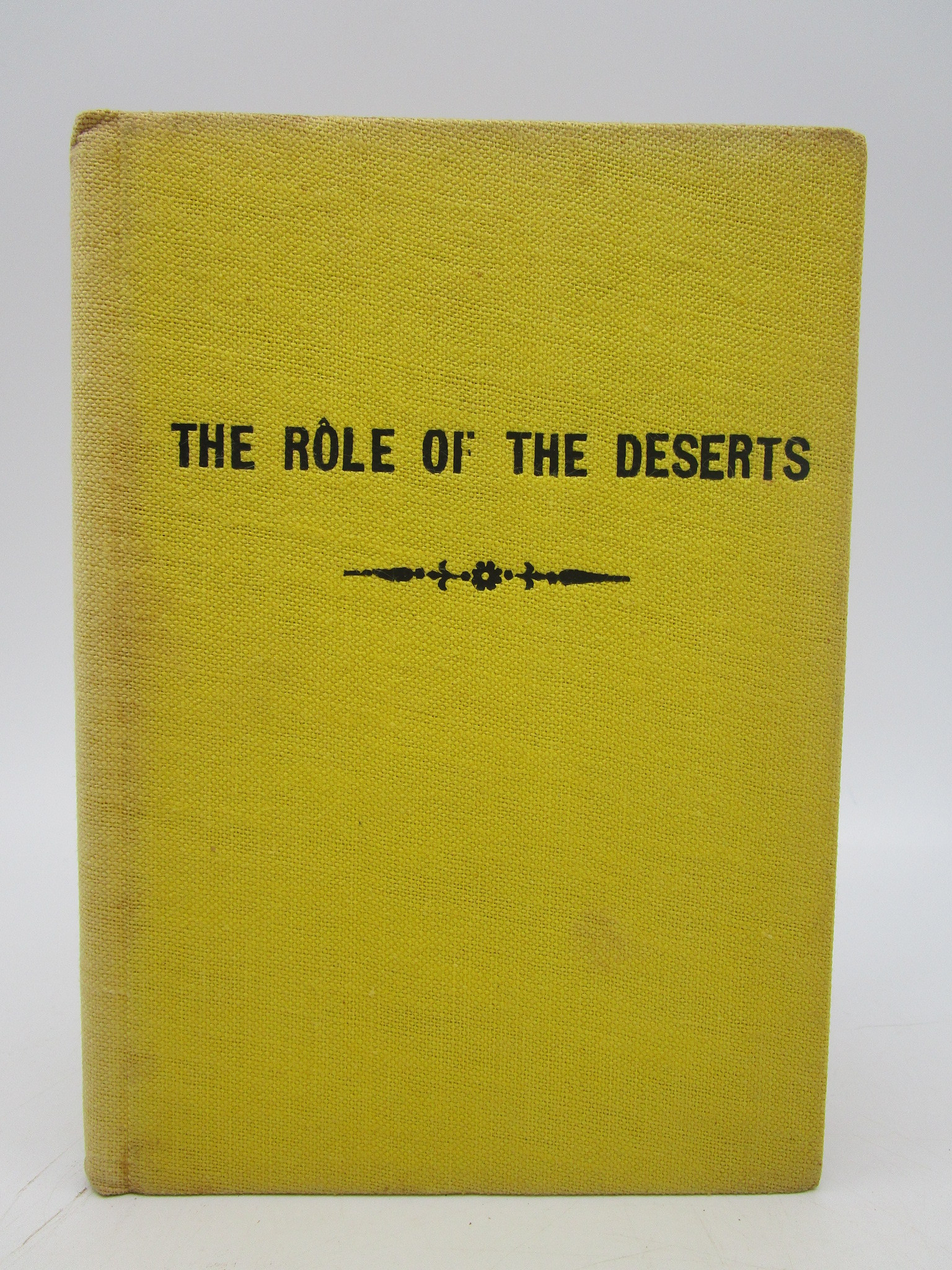 Image for The Role of the Deserts