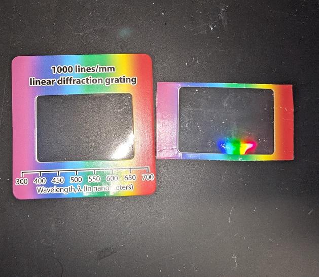 Trimmed diffraction slide vs stock slide
