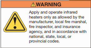 Warning for heater safety