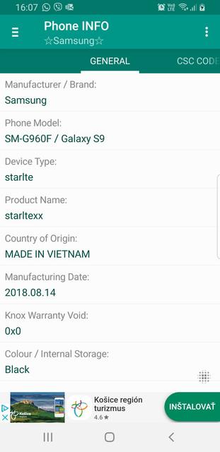Samsung Galaxy S9 sa neaktualizuje