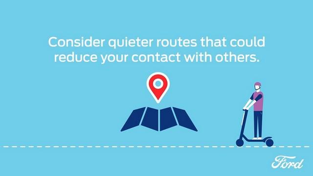 Nouvelles mobilités : les 7 conseils de Ford pour des trajets en toute sécurité tout en respectant la distanciation sociale Sharetheroad