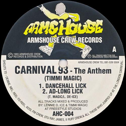 Timmi Magic / Lennie De-Ice - Carnival 93 / We.R.E.