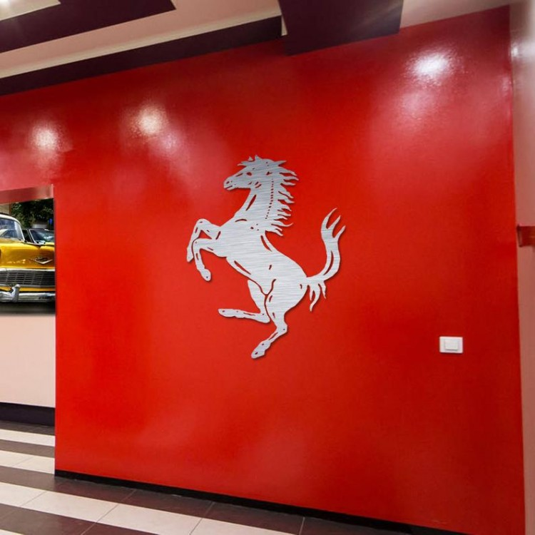 FERRARI CAR LASERCUT MANCAVE DISPLAY SIGNS 2