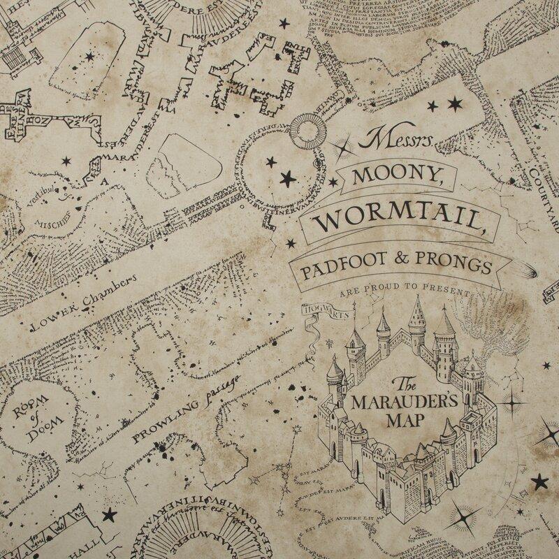 Warner-Bros-Marauders-Map-1000cm-x-52cm-Textured-Matte-Wallpaper-Roll
